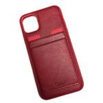 Чехол HDD Luxury Card Slot Case для Apple iPhone 11 (красный, кожаный)