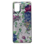 Чехол Yotrix GlitterFoil Case для Samsung Galaxy A31 (Flowers Mint, гелевый)