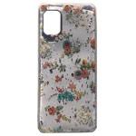 Чехол Yotrix GlitterFoil Case для Samsung Galaxy A31 (Flowers Pink, гелевый)