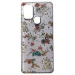 Чехол Yotrix GlitterFoil Case для Samsung Galaxy A21s (Flowers Pink, гелевый)