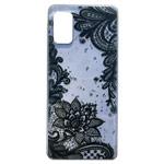 Чехол Yotrix GlitterFoil Case для Samsung Galaxy A41 (Flowers Black, гелевый)