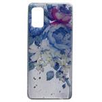 Чехол Yotrix GlitterFoil Case для Samsung Galaxy A41 (Flowers Blue, гелевый)