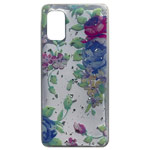 Чехол Yotrix GlitterFoil Case для Samsung Galaxy A41 (Flowers Mint, гелевый)