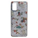Чехол Yotrix GlitterFoil Case для Samsung Galaxy A41 (Flowers Pink, гелевый)
