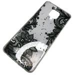 Чехол Yotrix GlitterFoil Case для Xiaomi Redmi Note 9S (Flowers Black, гелевый)