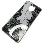 Чехол Yotrix GlitterFoil Case для Xiaomi Redmi Note 9 pro (Flowers Black, гелевый)