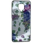 Чехол Yotrix GlitterFoil Case для Xiaomi Redmi Note 9 pro (Flowers Mint, гелевый)