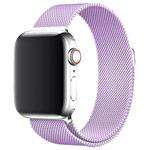 Ремешок для часов Yotrix Milanese Band для Apple Watch 42/44 мм (сиреневый, стальной)