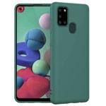 Чехол Yotrix LiquidSilicone для Samsung Galaxy A21s (темно-зеленый, гелевый)