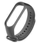 Ремешок для браслета Xiaomi Mi Band 3/4 (серый, силиконовый)
