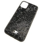 Чехол Swarovski Crystal Case для Apple iPhone 11 (черный, гелевый)