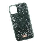 Чехол Swarovski Crystal Case для Apple iPhone 11 pro (темно-зеленый, гелевый)