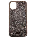 Чехол Swarovski Crystal Case для Apple iPhone 11 pro max (розовый, гелевый)