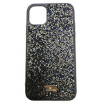 Чехол Swarovski Crystal Case для Apple iPhone 11 pro max (темно-синий, гелевый)