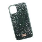Чехол Swarovski Crystal Case для Apple iPhone 11 pro max (темно-зеленый, гелевый)