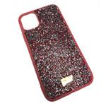 Чехол Swarovski Crystal Case для Apple iPhone 11 pro max (красный, гелевый)