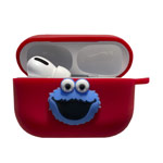 Чехол Synapse Сartoons Case для Apple AirPods pro (Sesame St. Cookie Monster, силиконовый)