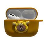 Чехол Synapse Сartoons Case для Apple AirPods pro (Jungle Brown Yellow, силиконовый)