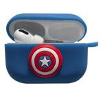 Чехол Synapse Сartoons Case для Apple AirPods pro (Captain America, силиконовый)