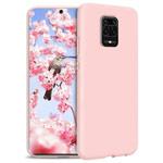 Чехол Yotrix LiquidSilicone для Xiaomi Redmi Note 9S (светло-розовый, гелевый)