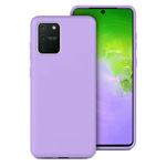Чехол Yotrix LiquidSilicone для Samsung Galaxy S10 lite (сиреневый, гелевый)