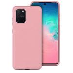 Чехол Yotrix LiquidSilicone для Samsung Galaxy S10 lite (розовый, гелевый)
