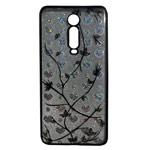 Чехол Yotrix GlitterSoft Leafs для Xiaomi Mi 9T (черный, гелевый)