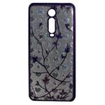 Чехол Yotrix GlitterSoft Leafs для Xiaomi Mi 9T (фиолетовый, гелевый)