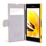 Чехол Nillkin Side leather case для Sony Xperia Z1 L39h (желтый, кожанный)