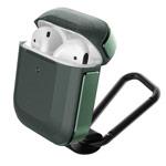 Чехол X-doria Defense Trek для Apple AirPods (темно-зеленый, маталлический)