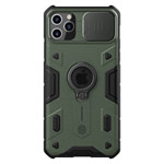 Чехол Nillkin CamShield Armor для Apple iPhone 11 pro max (темно-зеленый, композитный)
