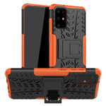 Чехол Yotrix Shockproof case для Samsung Galaxy S20 plus (оранжевый, гелевый)