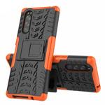 Чехол Yotrix Shockproof case для Sony Xperia 5 (оранжевый, гелевый)