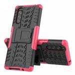 Чехол Yotrix Shockproof case для Sony Xperia 5 (розовый, гелевый)