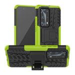 Чехол Yotrix Shockproof case для Huawei P40 (зеленый, гелевый)