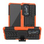 Чехол Yotrix Shockproof case для Huawei P40 (оранжевый, гелевый)