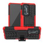 Чехол Yotrix Shockproof case для Huawei P40 pro (красный, гелевый)