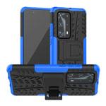 Чехол Yotrix Shockproof case для Huawei P40 pro (синий, гелевый)