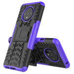 Чехол Yotrix Shockproof case для OnePlus 7T (фиолетовый, гелевый)