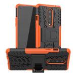Чехол Yotrix Shockproof case для OnePlus 8 (оранжевый, гелевый)