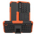 Чехол Yotrix Shockproof case для Samsung Galaxy A01 (оранжевый, гелевый)