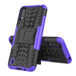 Чехол Yotrix Shockproof case для Samsung Galaxy A01 (фиолетовый, гелевый)