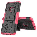 Чехол Yotrix Shockproof case для Samsung Galaxy A11 (розовый, гелевый)
