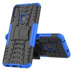 Чехол Yotrix Shockproof case для Samsung Galaxy A11 (синий, гелевый)