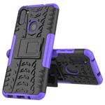Чехол Yotrix Shockproof case для Samsung Galaxy A11 (фиолетовый, гелевый)