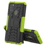 Чехол Yotrix Shockproof case для Samsung Galaxy A21s (зеленый, гелевый)
