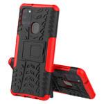 Чехол Yotrix Shockproof case для Samsung Galaxy A21s (красный, гелевый)
