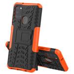 Чехол Yotrix Shockproof case для Samsung Galaxy A21s (оранжевый, гелевый)