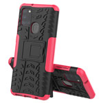 Чехол Yotrix Shockproof case для Samsung Galaxy A21s (розовый, гелевый)