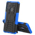 Чехол Yotrix Shockproof case для Samsung Galaxy A21s (синий, гелевый)